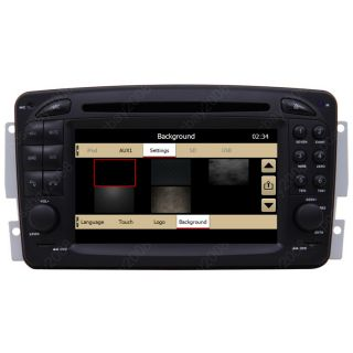 00 07 Mercedes Benz C Class W203 Car GPS Navigation Aux iPod Radio TV DVD Player
