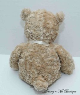 "Wendy Bellissimo Tan 15"" Teddy Bear Bow Plush Toy"