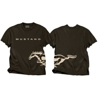 Ford Mustang Black Wrap Around Logo Men's Short Sleeve T Shirt