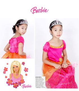 Hyundai Hmall Korea Children Kids Girl Halloween Barbie Dress Costume Party