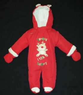 BNWT Pram Snowsuit Boy Girl Winter Baby Christmas Padded All in One NB 0 3 6 9