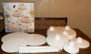 Wilton 3 Tier Cake Dessert Stand New Wedding Shower Cupcakes Appetizers