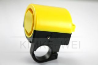Mini Electronic Bicycle Bike Cycling Loud Horn New Yellow