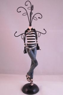 New Jewellery Mannequin Display Stand Black Pink Purple Top Denim Jeans Teens