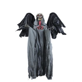 Halloween Flying Grim Reaper Zombie Skull Skeleton w Ghosty Laughter Flashlight