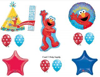 Elmo Personalized Happy Birthday Party Balloons Decorations Supplies Sesame