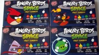 4 Collectible Boxes Angry Birds Space Fruit Gummies Snacks 3 5 oz Each