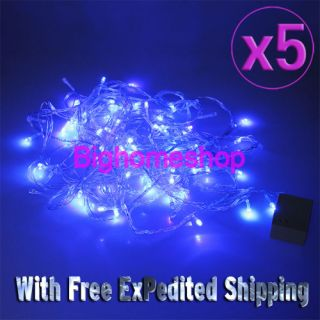 5 x Blue Color 9 5M 100 LED String Fairy Light Christmas Tree Wedding Party 110V
