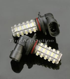 2X H10 9140 9145 68 SMD LED White Car Fog Light Lamp Bulb 9050 9005 Super Bright