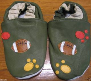 Babt Infant Soft Sole Leather Crib Shoes Baseball 2 3