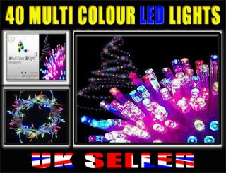 40 Multi Colour LED Lights Christmas Eve Party Tree Indoor Outdoor Light Chaser