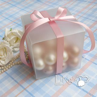 3x3x3 Plastic Gift Favor Box Wedding Party Baby Shower