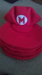 "Super Mario Bros Birthday Party Favor Hats ''Handmade"" New"