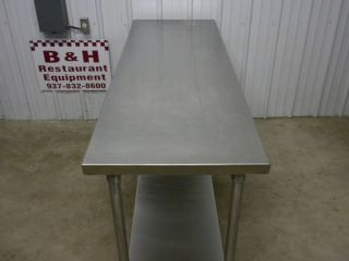"72"" x 24"" Stainless Steel Work Prep Top Table 6' x 2'"