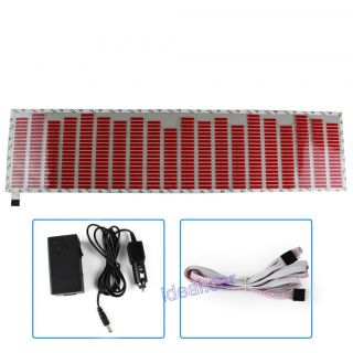 80 19 cm Red Car Sticker Music Rhythm LED Flash Lamp Sound Activated Equalizer