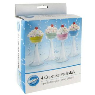 Wilton 4 Cupcake Pedestals Cake Ice Cream Sundae Party
