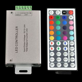 24 44 Key 2 4 6 8A Amplifier IR Remote Control RGB 5050 3528 SMD LED Light Strip