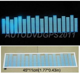 Sound Music Activated Car Stickers Equalizer Glow Skyblue Light 45 11cm