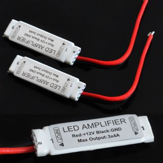 2pcs Mini Tiny Signal Amplifier for 5050 3528 SMD RGB LED Light Strip DC 12V 12A
