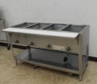 "Duke 4 Bay Electric Waterless Steam Table 58 1 2"" Wide"