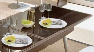 Modern Italian Calligaris Enterprise Expandable Contemporary Dining Table