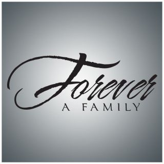 Forever A Family Wall Quote Decal Vinyl Lettering Saying