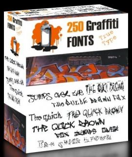 250 Graffiti Rap Hip Hop TrueType Fonts Collection