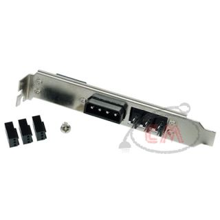 External Power PCI Slot Cover 4pin Molex 3X 3pin Fan Plug Set