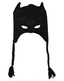Batman DC Comics Face Mask Adult Pilot Peruvian Laplander Hat