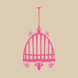 Hanging Bird Cage Vinyl Wall Art Home Interior Sticker Decor Transfer PI056