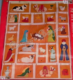 Bucilla Nativity Advent Calendar Christmas Felt Kit