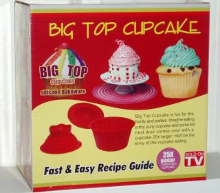 Giant Big 3 D Silicone Cupcake Pan Bake 3 Piece Set New