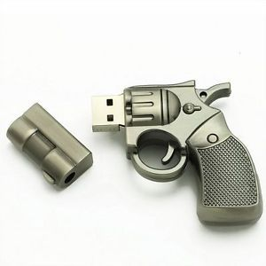 2 0 4GB USB Flash Drives New Memory Stick Pen Cool Hand Gun Design