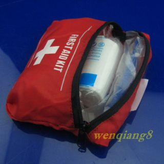 2pcs Red Emergency First Aid Bag Pack Travel Sport Survival First Aid Kit W8