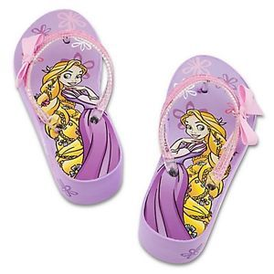 Rapunzel Tangled Disney Princess Purple Platform Flip Flops Beach Sandals