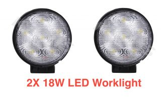 New 2X 18W 12V 24V LED Flood Work Light Heavy Duty Truck Trailer Jeep ATV Boat