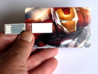 New Avengers Iron Man Credit Card Style USB Flash Drive 4GB