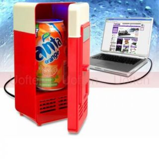Mini USB PC Fridge Refrigerator Beverage Drink Cans Food Cooler