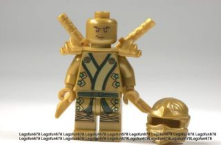 Lego New Ninjago Gold Ninja Lloyd ZX Minifigure w Golden Ninja Swords 70505