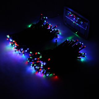 8 Colors 200 LED Solar String Light Christmas Wedding Party Garden Tree Decor US