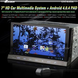 "ES7835USA 7"" 2 DIN HD Car DVD CD Player Tablet PC WiFi 3G GPS Android 4 0 Pad"