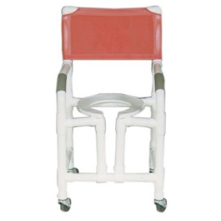 MJM International Standard Deluxe Shower Chair with True Vertical Open Front Frame and Optional Accessories