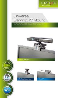Venom Universal Gaming TV Camera Mount Xbox 360 PS3 Wii for Kinect Sensor Bar