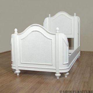 White Poplar Youth Twin Size Mansion Bed