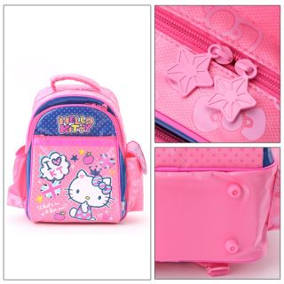 Japan Sanrio Hello Kitty Pink Blue Schoolbag Backpack Protect The Spine Design