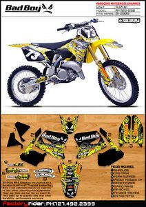 Bad Boy Suzuki Motocross Graphics RM 125 250 2001 09 Dirt Bike Graphics Decal
