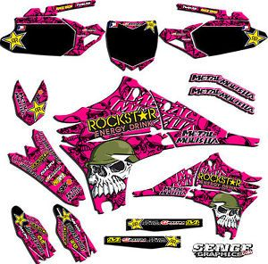 1992 1993 KX 125 250 Graphics Kit Kawasaki KX125 KX250 Deco Decals Stickers Pink