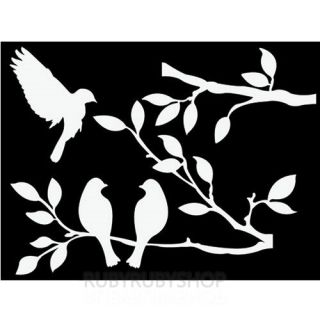 GPS 054 Tree Bird Graphic Art Wall Deco Decor Sticker