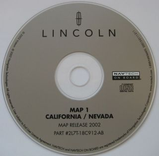 2003 Lincoln Navigator Expedition Eddie Bauer XLT Navigation CD Map 1 CA NV
