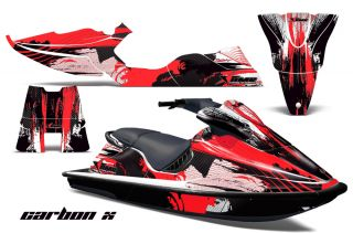 AMR Racing Jet Ski Graphic Decal Kit jetski SeaDoo XP Sea 94 96 Part Carbon Red